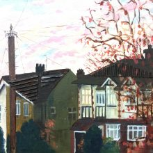 Collage Autumn Sunset by Jane Rogers, Insight School of Art