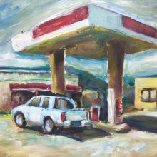 Petrol Station by Alan Vaughan, Insight School of Art