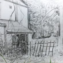 Drawing on location by Andrea Gaunt, Insight School of Art