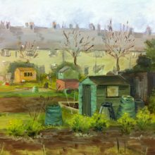 Allotment Lanscape by Bronwen Shinn, Insight School of Art