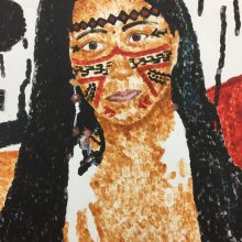 Finger painting portrait  by Emily, Insight School of Art