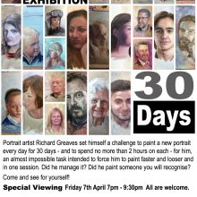 Exhibition of Portraits by Richard Greaves
