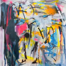 ISoA artist Joanna Gilbert takes part in live painting event
