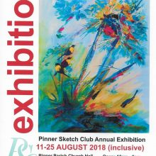 IsoA Artist Neeta Katatria exhibits with the Pinnner Sketch Club