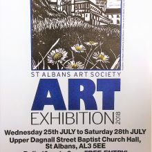 Michael Metcalfe and Bronwen Shinn exhibiting at St. Albans Art Society
