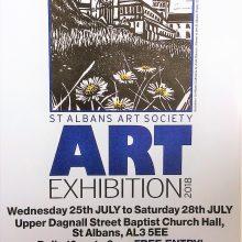 Michael Metcalfe and Bronwen Shinn exhibiting at St. Albans Art Society