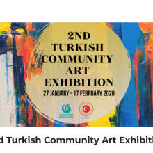 Ayse McGowan exhibiting at the Turkish Consulate General