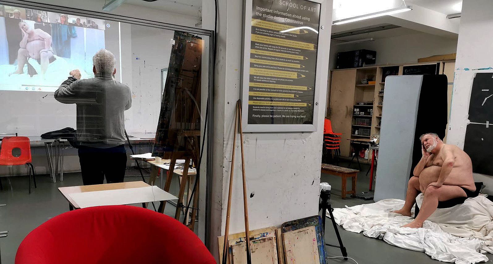 Online life drawing classes at Insight School of Art